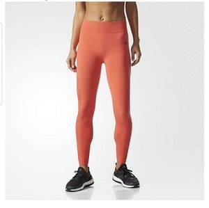NWT Adidas Warpknit Tights M Orange Lazer Cut